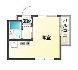 YKハイツ舞子坂[4階]の間取り