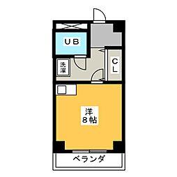 愛知県名古屋市名東区高社1の賃貸マンションの間取り