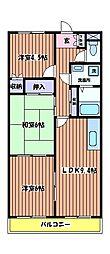 メゾン・ユングフラウ[1階]の間取り