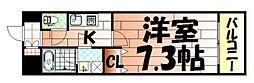U-Basic Leef三萩野[2階]の間取り