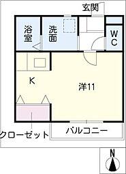 Delta House[2階]の間取り