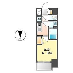 愛知県名古屋市中区丸の内2丁目の賃貸マンションの間取り