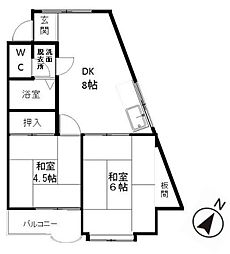 プレアール弥永[2階]の間取り