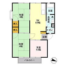 埼玉県さいたま市浦和区上木崎4丁目の賃貸アパートの間取り