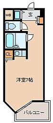 トーカン久留米駅東Ⅱキャステール[802号室]の間取り