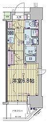 Osaka Metro千日前線 玉川駅 徒歩3分の賃貸マンション 2階1Kの間取り