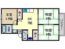 ハイツ山田II[2階]の間取り