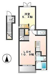 セレノカーサIII[2階]の間取り
