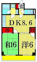 カーサドマーニ[305号室]の間取り