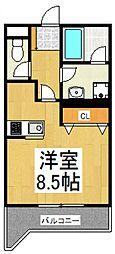 トミボナール[3階]の間取り