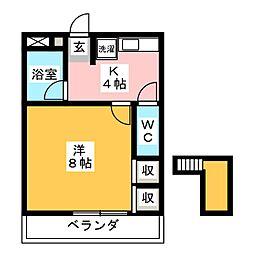 マロンハイツII[3階]の間取り