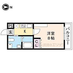 フェリーチェ妙蓮寺 3階1Kの間取り