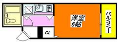 コルナス八戸ノ里 201号室[2階]の間取り