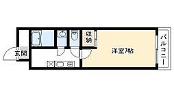 G・F二条城[407号室号室]の間取り