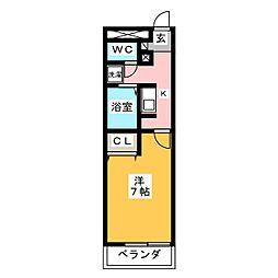プレジールWARABI[1階]の間取り