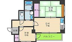 茶臼山ビル[8階]の間取り