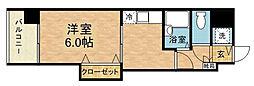 クロスステージ博多駅前[4階]の間取り