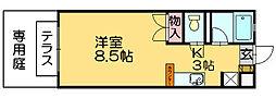 クオリス篠栗[2階]の間取り