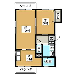 第3鴫原ビル[2階]の間取り