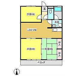 e−ホーム御幸[205号室]の間取り