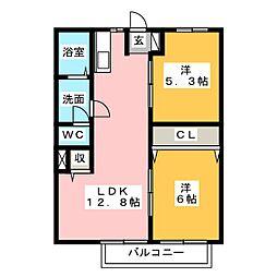 ニューシティ垂木[2階]の間取り