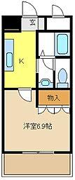 愛知県名古屋市緑区大高町の賃貸アパートの間取り