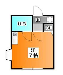 東京都北区志茂5の賃貸アパートの間取り