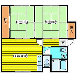 北海道札幌市東区北二十条東6丁目の賃貸アパートの間取り