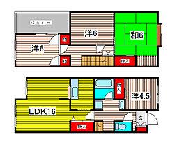 [テラスハウス] 埼玉県さいたま市緑区大字中尾 の賃貸【埼玉県 / さいたま市緑区】の間取り