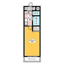 A・City東新町II[3階]の間取り
