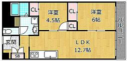 シャトータナカ[3階]の間取り