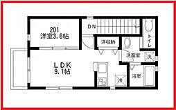 東京都文京区小日向2丁目の賃貸アパートの間取り
