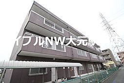 岡山県岡山市北区東花尻の賃貸マンションの外観