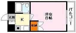 ハイツじゅえる[3階]の間取り