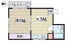 小泉マンション[303号室]の間取り