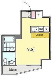 マリーナヨコハマプレミアム 7階ワンルームの間取り