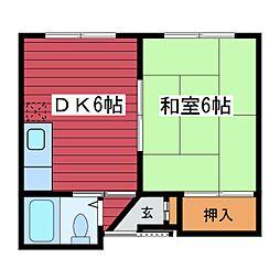 カジュアルハイツ[3階]の間取り