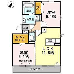 A-Room[303号室]の間取り