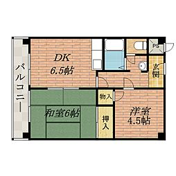 ファミネス澤田[3階]の間取り