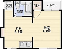 青山住研ハイツ[2階]の間取り