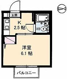 パークハイムふくい[2階]の間取り