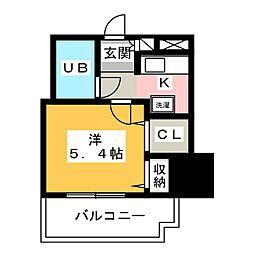 ライオンズマンション八熊通 504号室[5階]の間取り