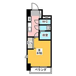 コモレビスクエア大須[3階]の間取り