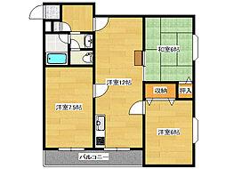 日栄ビル3号館[4階]の間取り