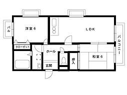 阪神本線 深江駅 4階建[3階]の間取り