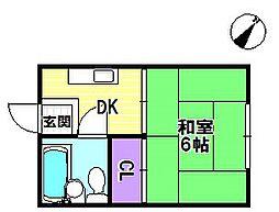 桂コーポ[101号室]の間取り