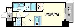 メインステージ京町堀[3階]の間取り