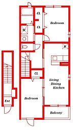 グリーンフォレスト[2階]の間取り