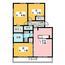 仮)D-room津田町[2階]の間取り