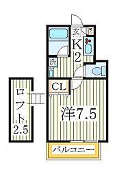 ミニフラット12[1階]の間取り